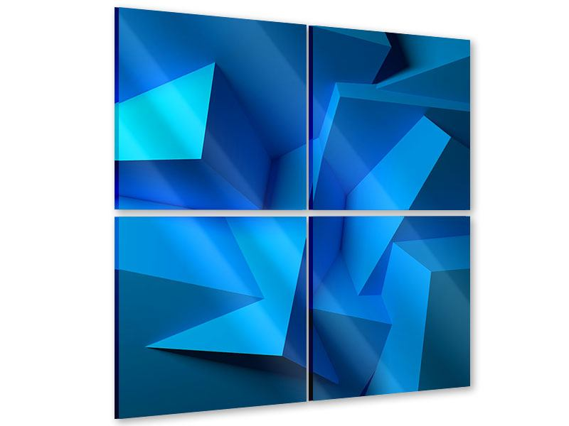4 Piece Acrylic Print 3D-Abstraction