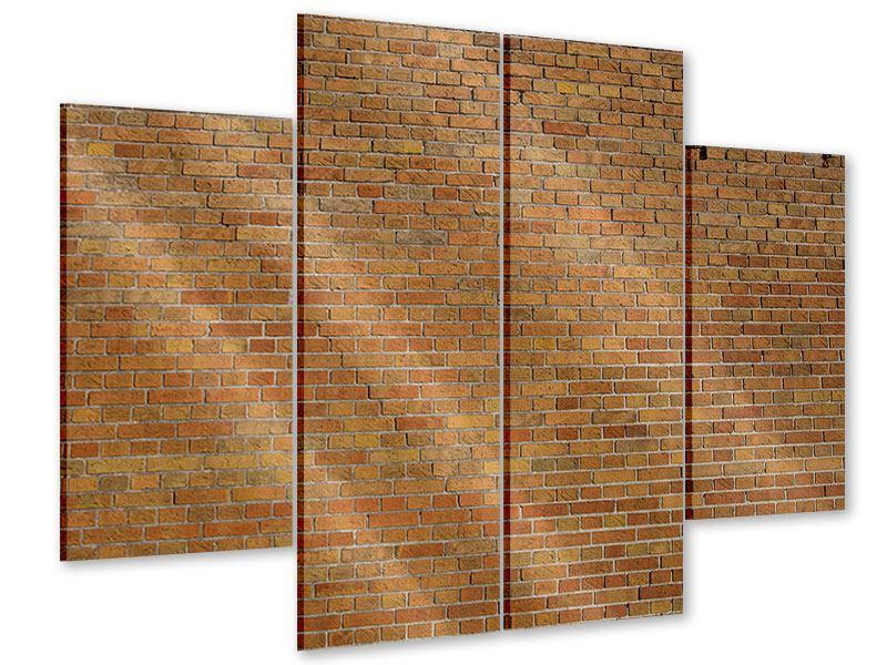 Acrylglasbild 4-teilig Backsteinhintergrund