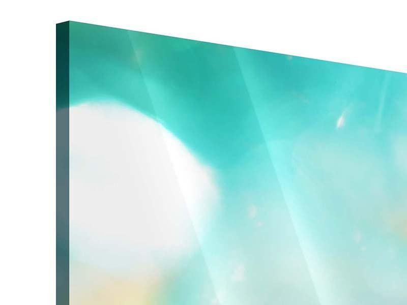 Acrylglasbild 4-teilig Verträumte Lotus