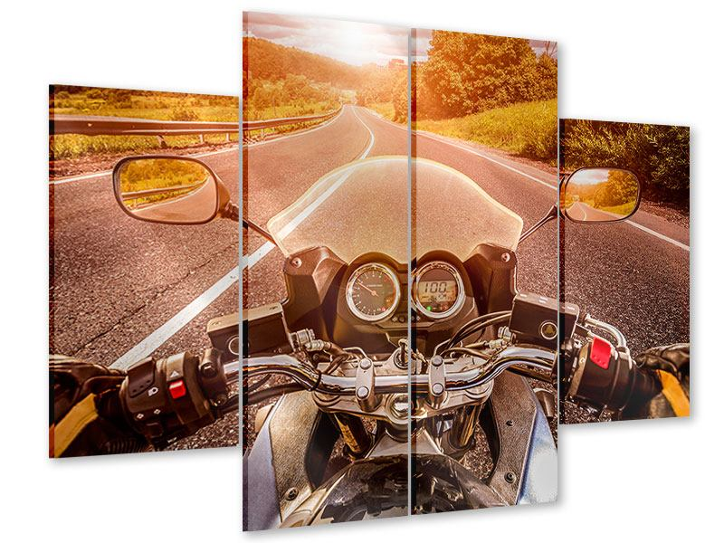 Acrylglasbild 4-teilig Motorrad-Tour