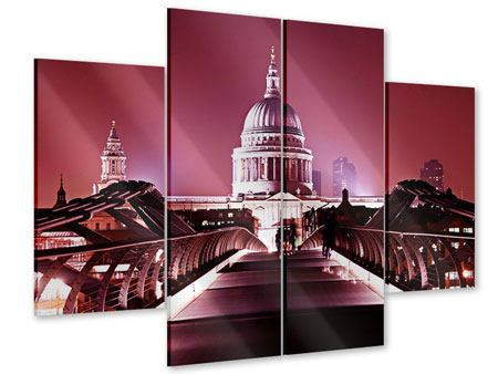 Acrylglasbild 4-teilig Millennium Bridge