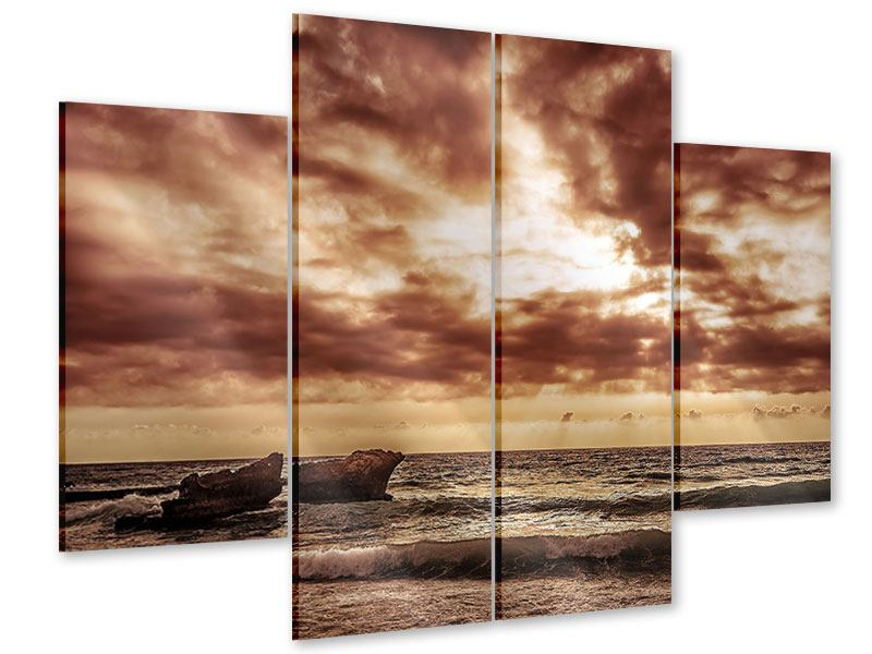 Acrylglasbild 4-teilig Meeresrauschen