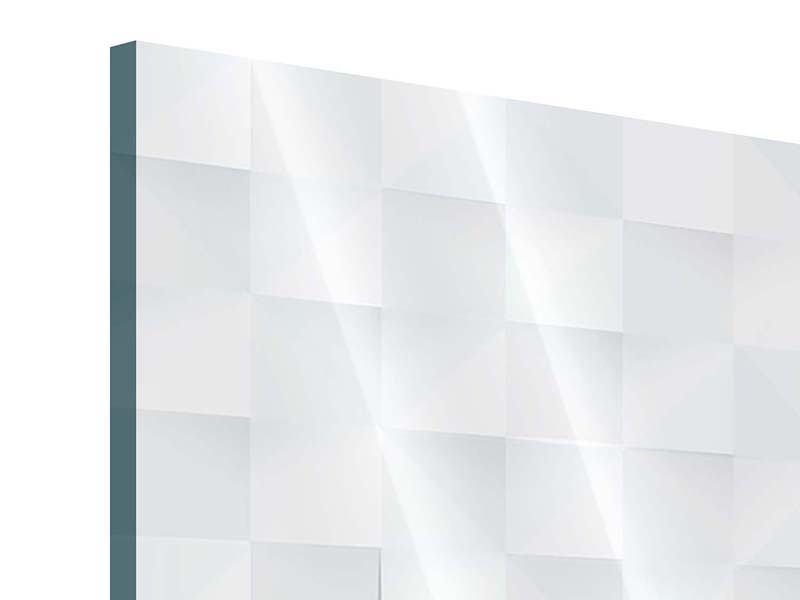 Acrylglasbild 4-teilig 3D-Schachbrett