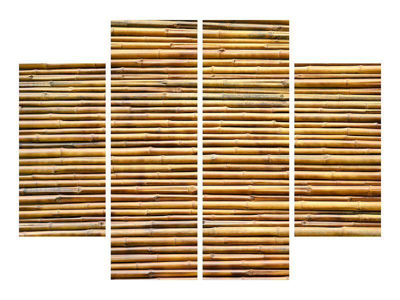 Acrylglasbild 4-teilig Bambus