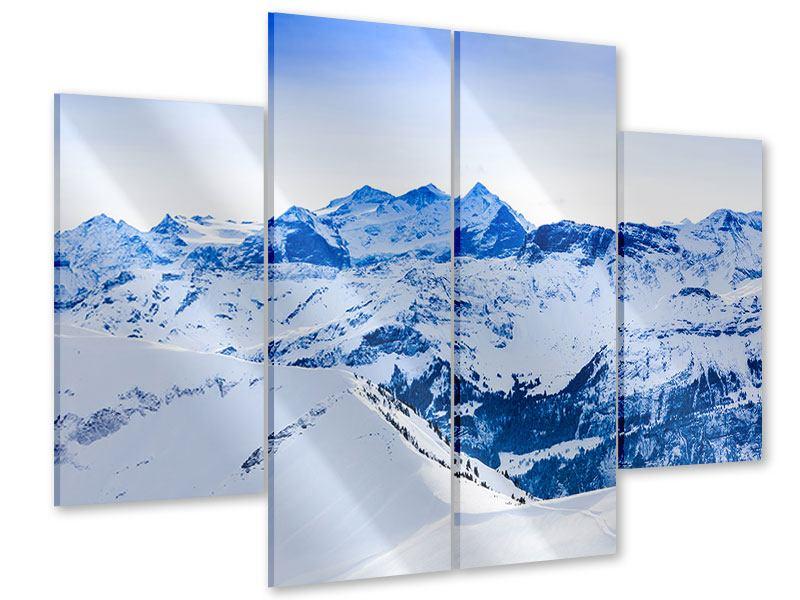 Acrylglasbild 4-teilig Die Schweizer Alpen