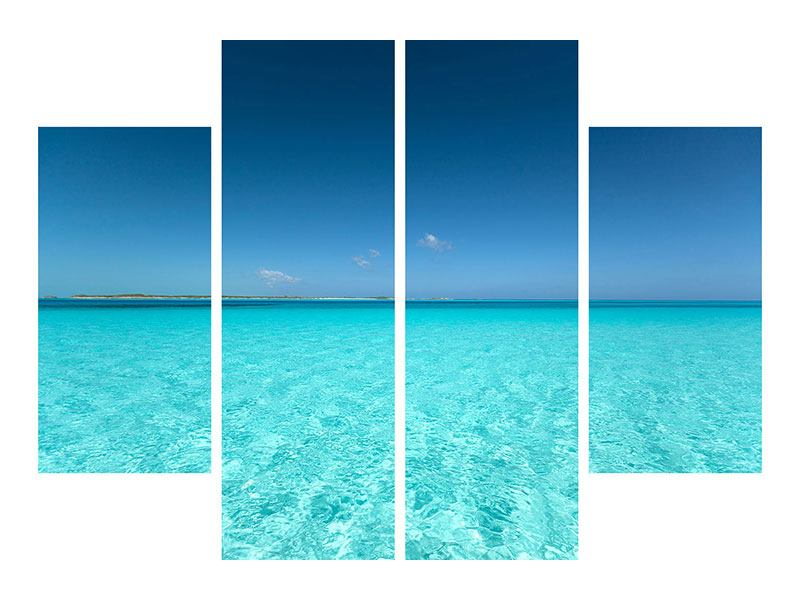Acrylglasbild 4-teilig Das Meer und Jules Verne