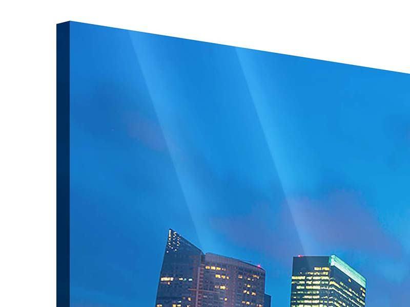 Acrylglasbild 4-teilig Skyline Singapur im Lichtermeer