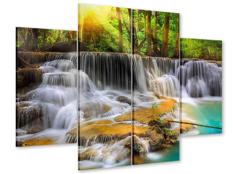Acrylglasbild 4-teilig Nationalpark Si Nakharin