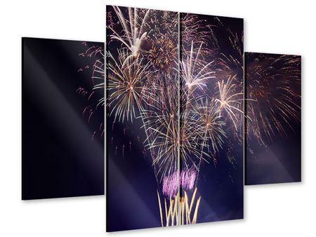 Acrylglasbild 4-teilig Feuerwerk
