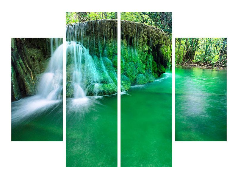 Acrylglasbild 4-teilig Im Paradies