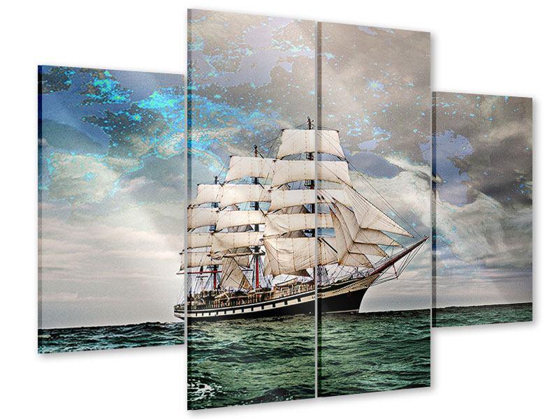 Acrylglasbild 4-teilig Segelschiff