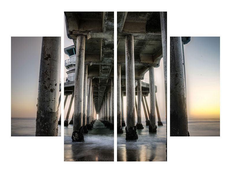 Acrylglasbild 4-teilig Brückenpfeiler