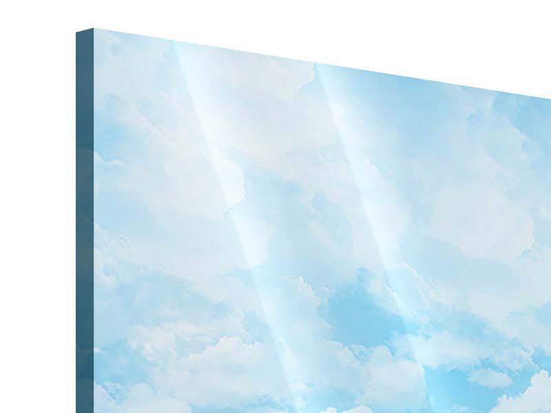 Acrylglasbild 4-teilig Sonnen Flower Power