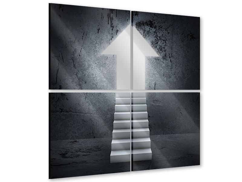 Acrylglasbild 4-teilig Der Aufstieg