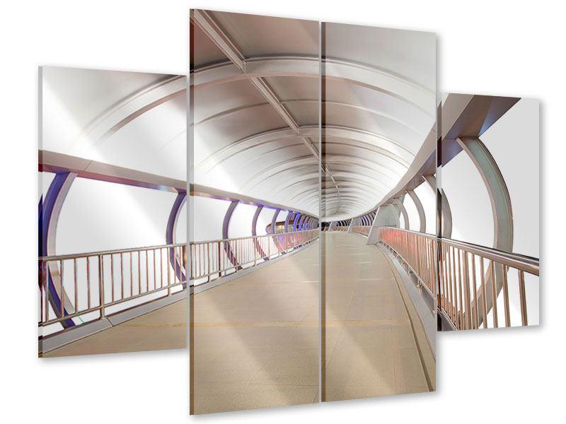 Acrylglasbild 4-teilig Brückenfeeling