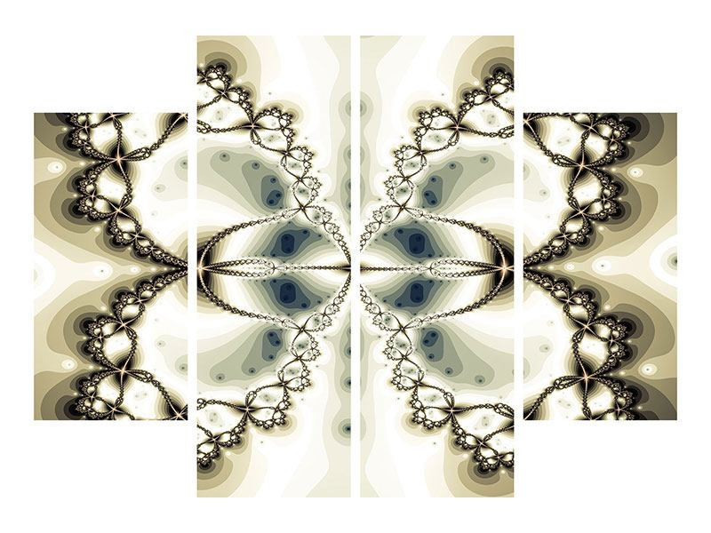 Acrylglasbild 4-teilig Abstrakter Schmetterling