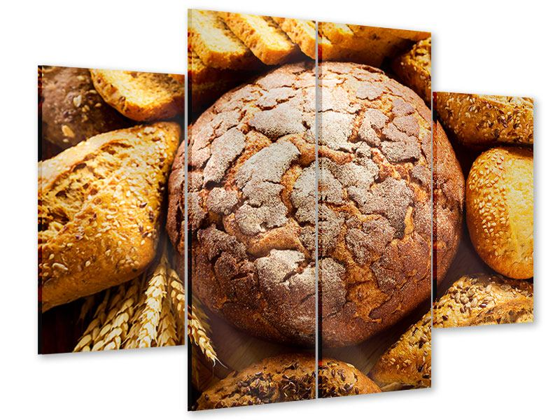 Acrylglasbild 4-teilig Brotsortiment