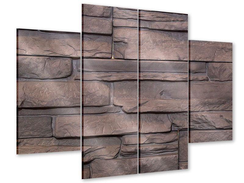 Acrylglasbild 4-teilig Luxusmauer