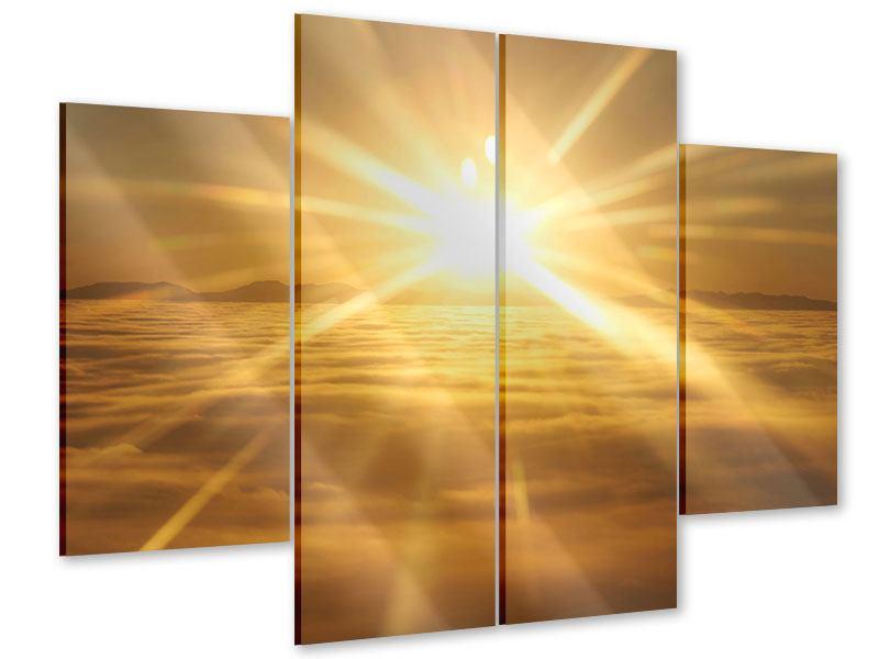 Acrylglasbild 4-teilig Über dem Wolkenmeer