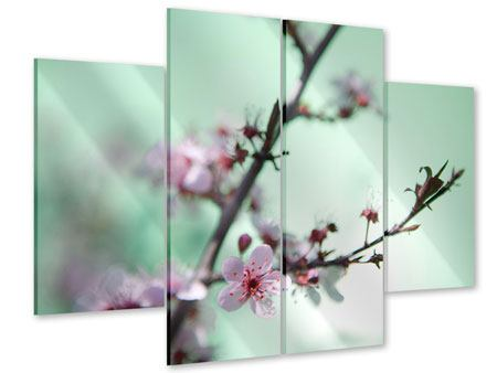 Acrylglasbild 4-teilig Die japanische Kirschblüte