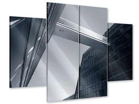 Acrylglasbild 4-teilig Der schwarze Diamant Kopenhagens