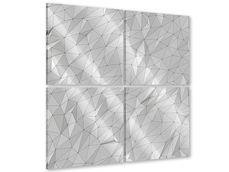 Acrylglasbild 4-teilig 3D-Geo
