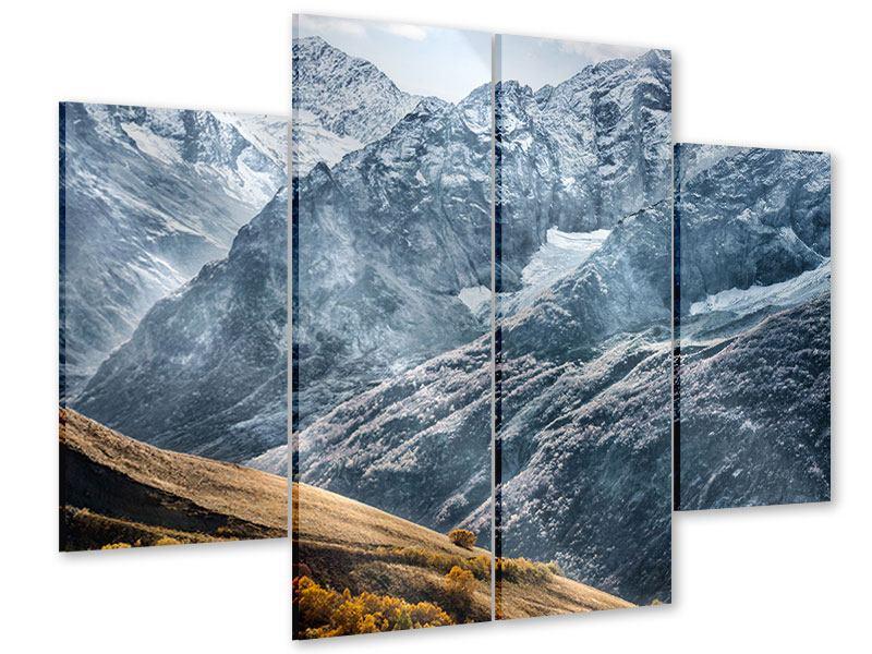Acrylglasbild 4-teilig Gigantische Berggipfel