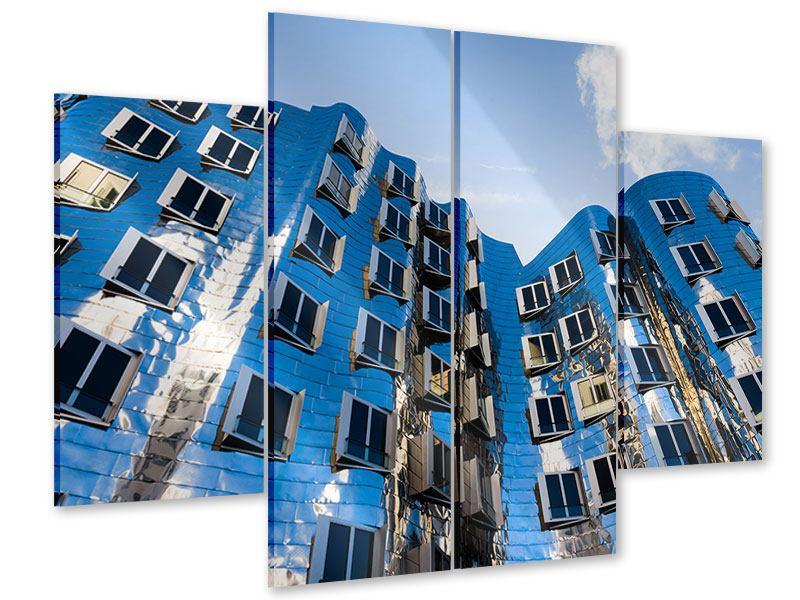Acrylglasbild 4-teilig Neuer Zollhof
