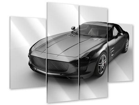 Acrylglasbild 4-teilig 007 Auto