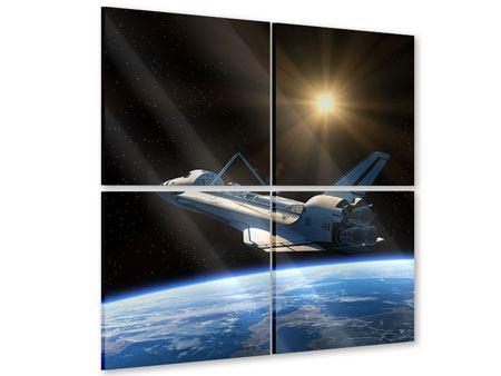 Acrylglasbild 4-teilig Das Raumschiff