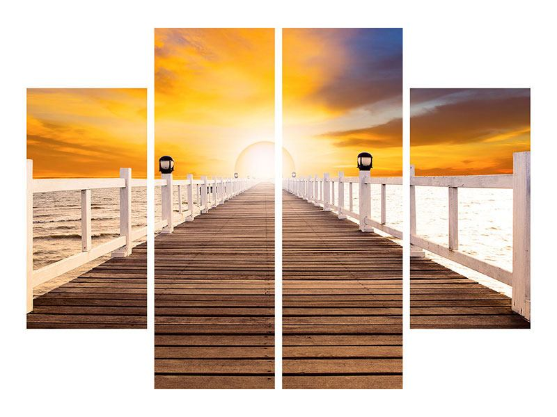 Acrylglasbild 4-teilig Die Brücke Ins Glück