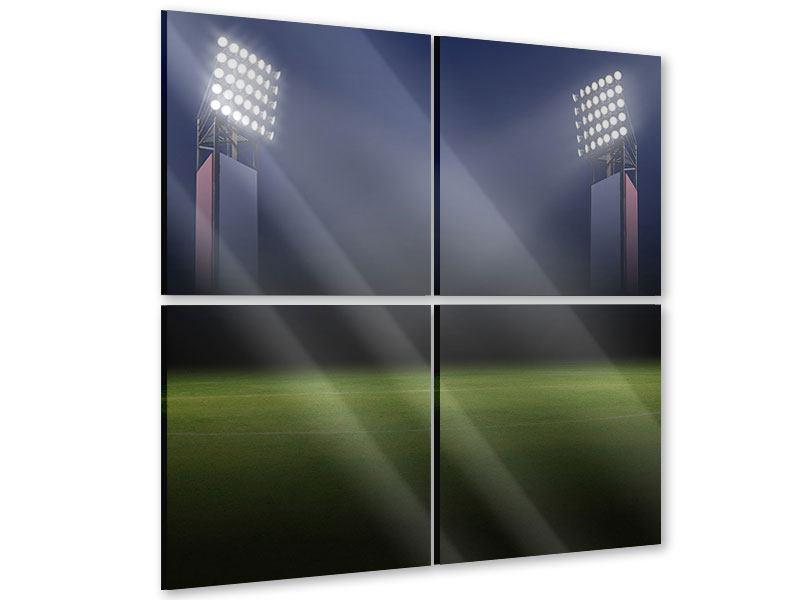 Acrylglasbild 4-teilig Fussballstadion