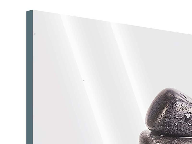 Acrylglasbild 4-teilig Die Kraft der Steine