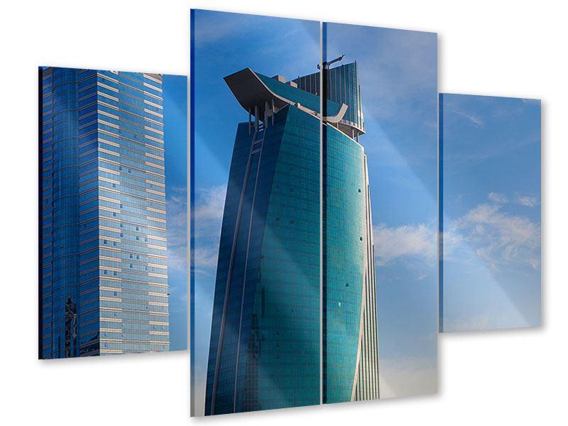 Acrylglasbild 4-teilig Zwei Wolkenkratzer