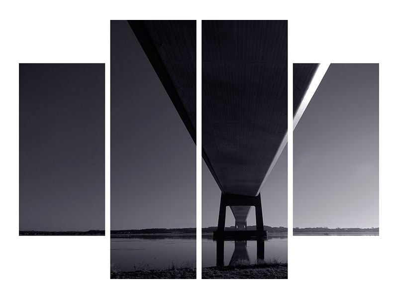 Acrylglasbild 4-teilig Die Brücke über tiefes Wasser