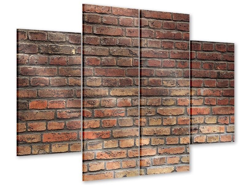 Acrylglasbild 4-teilig Brick Wall