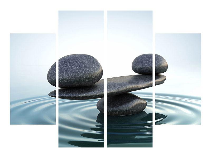 Acrylglasbild 4-teilig Steinbalance