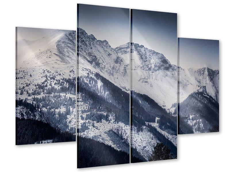 Acrylglasbild 4-teilig Die Berge der Schweiz