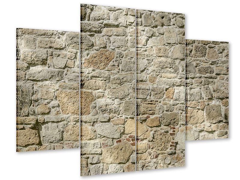 Acrylglasbild 4-teilig Naturmauer