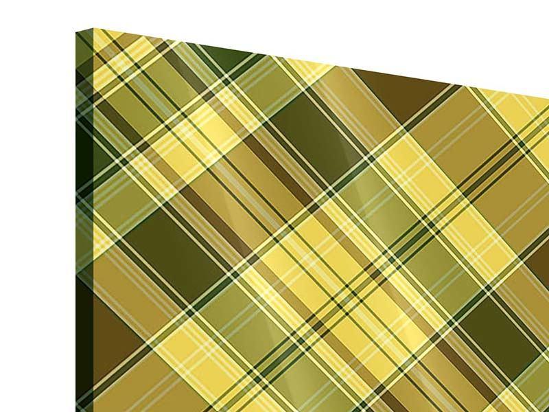 Acrylglasbild 4-teilig Karos im Retrodesign