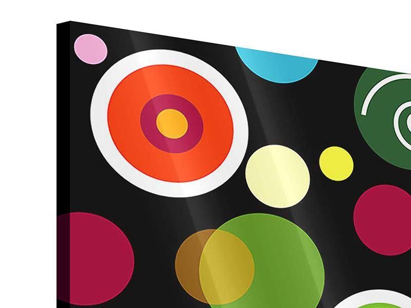 Acrylglasbild 4-teilig Bunte Retrolook Kreise