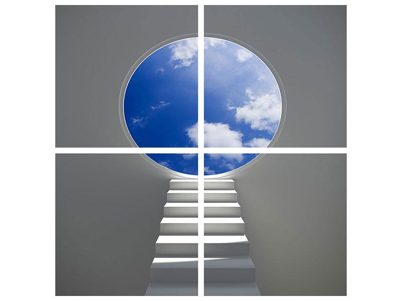 Acrylglasbild 4-teilig Himmelstreppe