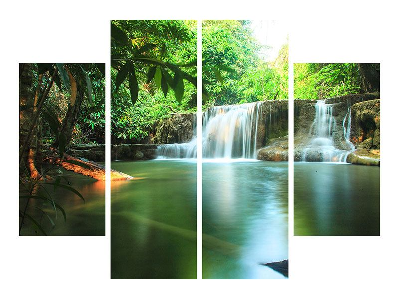 Acrylglasbild 4-teilig Element Wasser