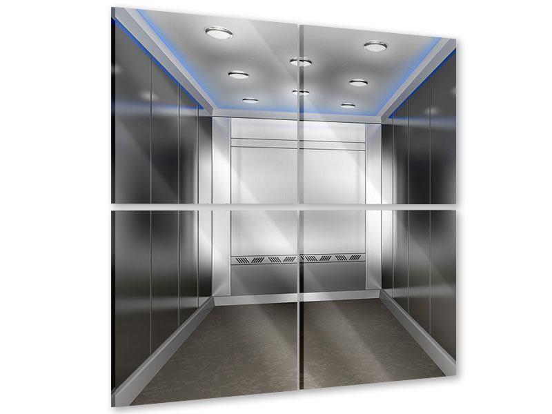 Acrylglasbild 4-teilig Eleganter Aufzug