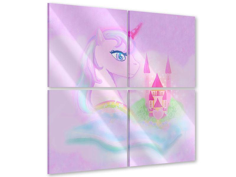 Acrylglasbild 4-teilig Märchenschloss