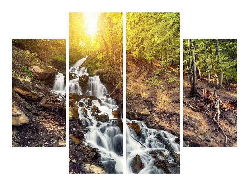 Acrylglasbild 4-teilig Naturschönheit