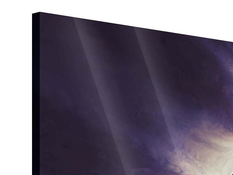 Acrylglasbild 4-teilig Weltraumreise