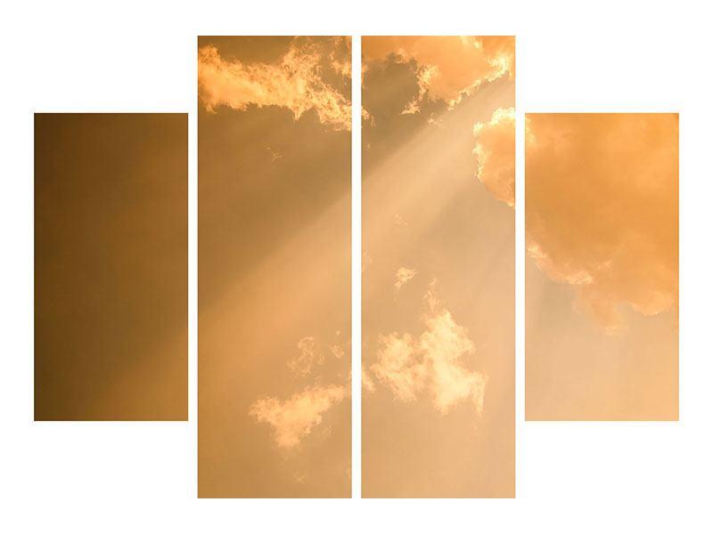 Acrylglasbild 4-teilig Abendhimmel