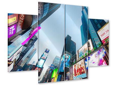 Acrylglasbild 4-teilig Shopping in NYC