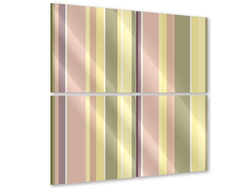 Acrylglasbild 4-teilig Längstreifen